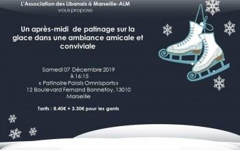 Après midi de patinage sur la glace - Association des Libanais à Marseille