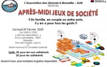 Soirée jeux de société - Association des Libanais à Marseille
